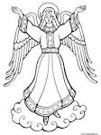 Раскраска ангелки