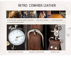<b>TIANHOO Retro Style</b> Men Bags Multifunction Hand <b>Bag</b> Crazy ...