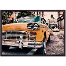 <b>Постер в рамке Дом</b> Корлеоне Ретро такси Нью-Йорк 40x60 см в ...
