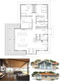 images about Home  Cottages on Pinterest   Floor plans  Tiny    Small House Plan in Modern Architecture  Three bedrooms  Abundance of natural light  vaulted