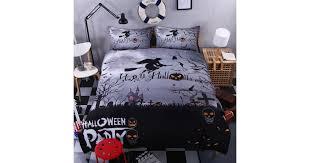 3D <b>Halloween Pumpkin Witch</b> Duvet Cover Bedding Set Quilt Cover ...