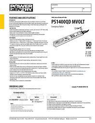 ps1400 battery pack wiring diagram ps1400 image lithonia lighting ps1400qd mvolt m8 power sentry 1400 lumen quick