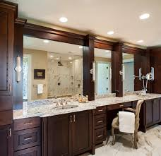 f magnificent mirror vanity design ideas of large brown finish double sink bathroom cabinet vanities with makeup area and tube fluoresence wall vanity bathroom magnificent contemporary bathroom vanity lighting