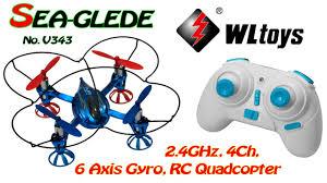 WLtoys V343 (Sea-glede) <b>2.4GHz</b>, 4Ch, 6 Axis <b>Gyro</b>, RC Quadcopter