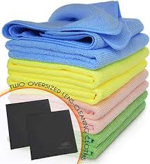 VibraWipe Microfiber Cleaning Cloths, 5-<b>Color</b> Pack, 8 <b>Pieces</b> of All ...