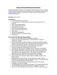 kitchen manager resume getessay biz head cook kitchen manager job description accepting application kitchen manager