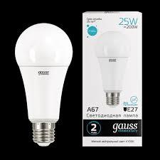 <b>Лампа</b> Gauss <b>LED</b> Elementary A67 <b>25W</b> E27 4100K - Gauss ...