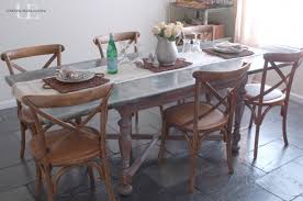 images zinc table top:  images about zinc table top on pinterest countertops metals and rustic dining tables
