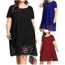 Fashion Women <b>Plus Size Patchwork</b> O-Neck <b>Big Size</b> Short Sleeve ...