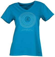 Life is Good <b>Daisy</b> Mandala Crusher <b>V Neck</b> Tee for Ladies Seaport ...