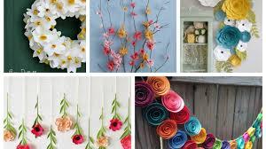 Spring Decorating Paper Flowers Spring Decor Ideas Spring Decorating Ideas Youtube