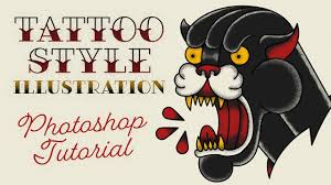 Old School <b>Tattoo Style</b> Illustration Effect Photoshop Tutorial ...