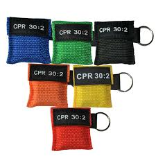 50pcs pro cpr resuscitator artificial breathing mask first aid rescue training tools mouth to with one way valve orange