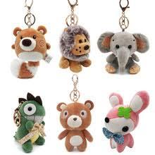 Милые Мультяшные животные плюшевые игрушки <b>брелок</b> ...