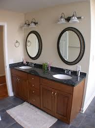 framed mirrors bathroom vanities oval oak