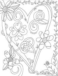 Small Picture Valentines Day Coloring Pages Doodle Art Alley