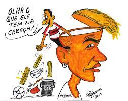 Resultado de imagem para charges- irma de neymar