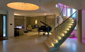stairway led lighting. stairs with led accent lights and colour change uprights stairway led lighting