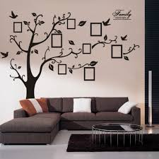 wall decal family art bedroom decor  set  inch art home wall decoration black family photo frame tree removable pvc wall stickers tree leaf turn right zyab