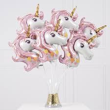<b>10pcs</b> Mini Rainbow <b>Unicorn</b> Air foil balloons <b>baby shower</b> cartoon ...