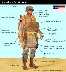 Art American paratrooper at the time of the Normandy Invasion of World War II   Kids Britannica