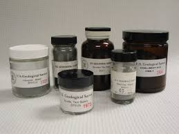 usgs geochemical reference materials and certificates of analysis photo of geochemical reference materials in bottles and jars