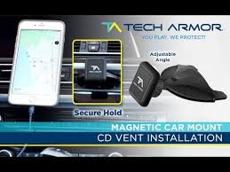 Tech <b>Armor</b> Universal <b>Magnetic Car</b> Mount - CD/DVD Slot Installation