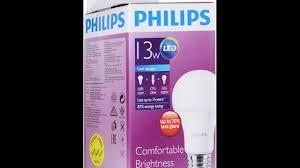 <b>Светодиодная лампа Philips</b> 13W 6500K <b>E27</b> . - YouTube