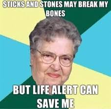 Life alert can save me | Memes.com via Relatably.com