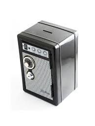 Копилка сейф с ключом Радио-ретро черная <b>Эврика</b> 8004769 в ...