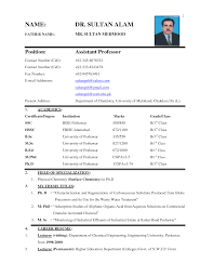 Biodata Resume Sample | indenvrdnscom Biodata Resume Sample Bio Data Resume Sample Teacher Biodata