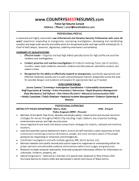 sample police officer resume resume template example retired police officers resume s officer lewesmr resume sample