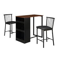 cherry counter height piece: piece devon rustic java square counter height dining set