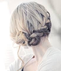 Image result for The back of a young woman's head with hair in bun