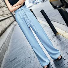 <b>Women</b> High Waist Tencel Jeans <b>Woman</b> Boyfriend <b>Wide</b> Leg Jeans ...