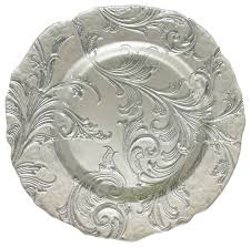 charger plates decorative: silver charger plates with decorative place setting decorative silver plate decorative tableware floral