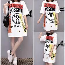 Women <b>New</b> Fashion <b>One</b>-<b>piece Letter Printed</b> Long T-shirt Style ...