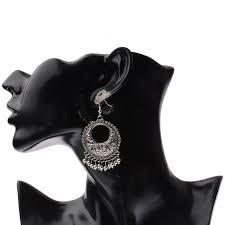 <b>TopHanqi</b> Hollow Flower <b>Indian Jhumka</b> Fringed Tassel Earrings ...