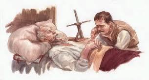 Resultado de imagen de imagenes de la muerte de don quijote
