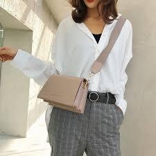 2019 Brand Design <b>Small bag</b> Female PU Leather Solid shoulder ...