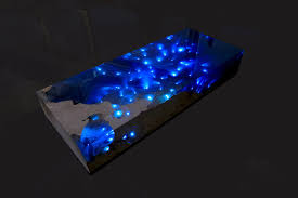 Natural Stone and <b>Resin Table</b> Brings the Beauty of a Starry Night ...