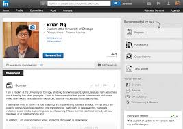 an ultimate guide to the linkedin one click online resume builder    brian ng linkedin profile view