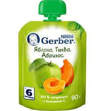 Купить <b>Пюре фруктовое Gerber</b> Яблоко тыква и абрикос с 6 мес ...