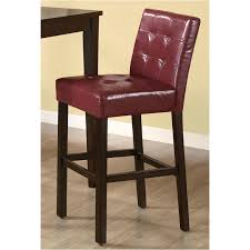 102589 Coaster Furniture Accent <b>Barstool</b> - <b>Wine Red</b>