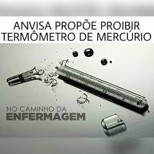 Resultado de imagem para termômetros e esfigmomanômetros com coluna de mercúrio