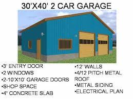′ x ′ Car Garage Workshop   Free House Plan Reviewsgarage plan