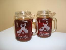 wood sign glass decor wooden kitchen wall: bride groom mason jar glasses rustic deer deer couple mason jar rustic wedding glasses engraved glasses bride groom decor wedding gift
