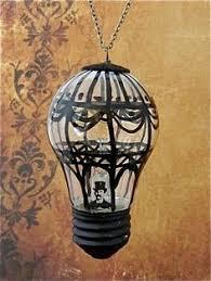 <b>Steampunk</b> Christmas ornament - Hot air balloon II - <b>Hand painted</b> ...