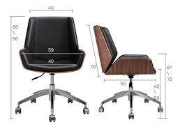 Mid Back <b>Bentwood Swivel Office</b> Computer <b>Chair</b> PU Leather <b>Office</b> ...