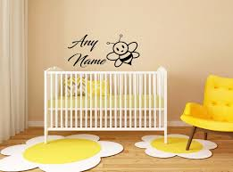 custom made personalized name bee animals vinyl wall sticker kids nursery bedroom decor decoration baby nursery cool bee animal